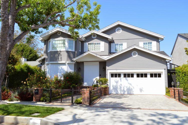 Gray and white suburban home