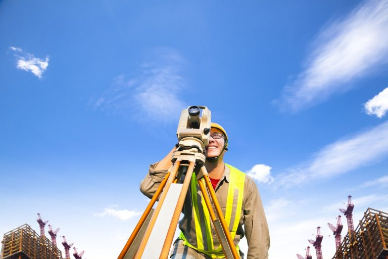 Man surveying the site