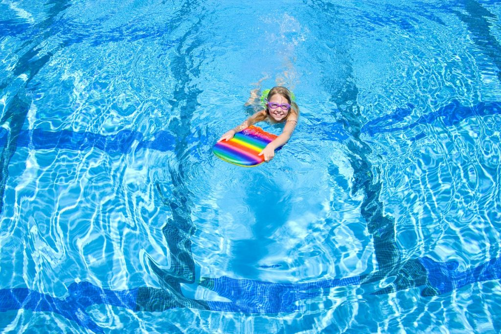 Young girl in a swimming pool