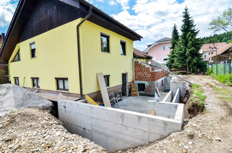 House extension foundation