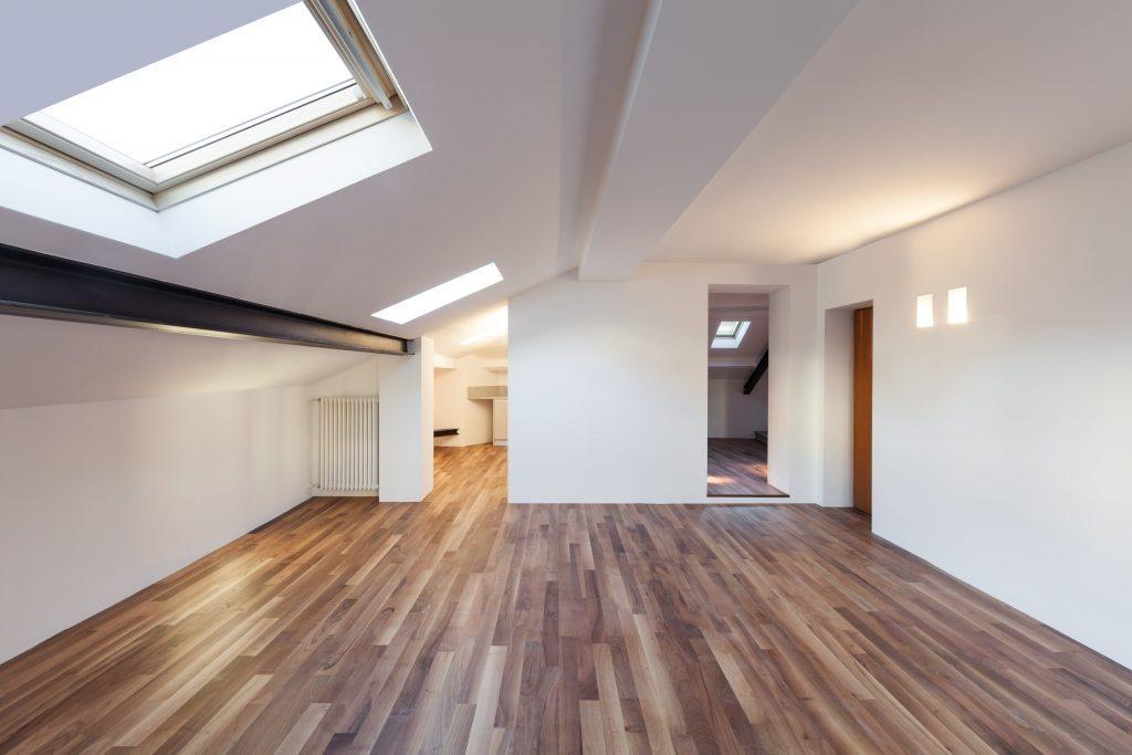 hardwood floor of new home