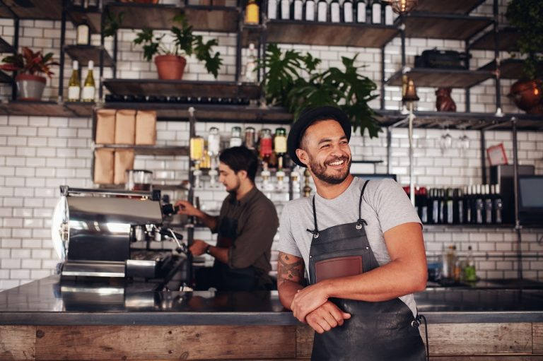 a cafe owner