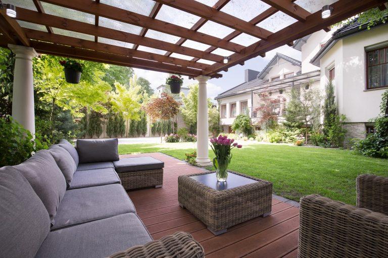 Furniture in the backyard