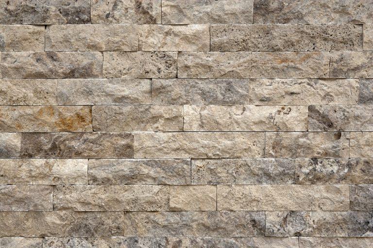 Limestone cladding close up
