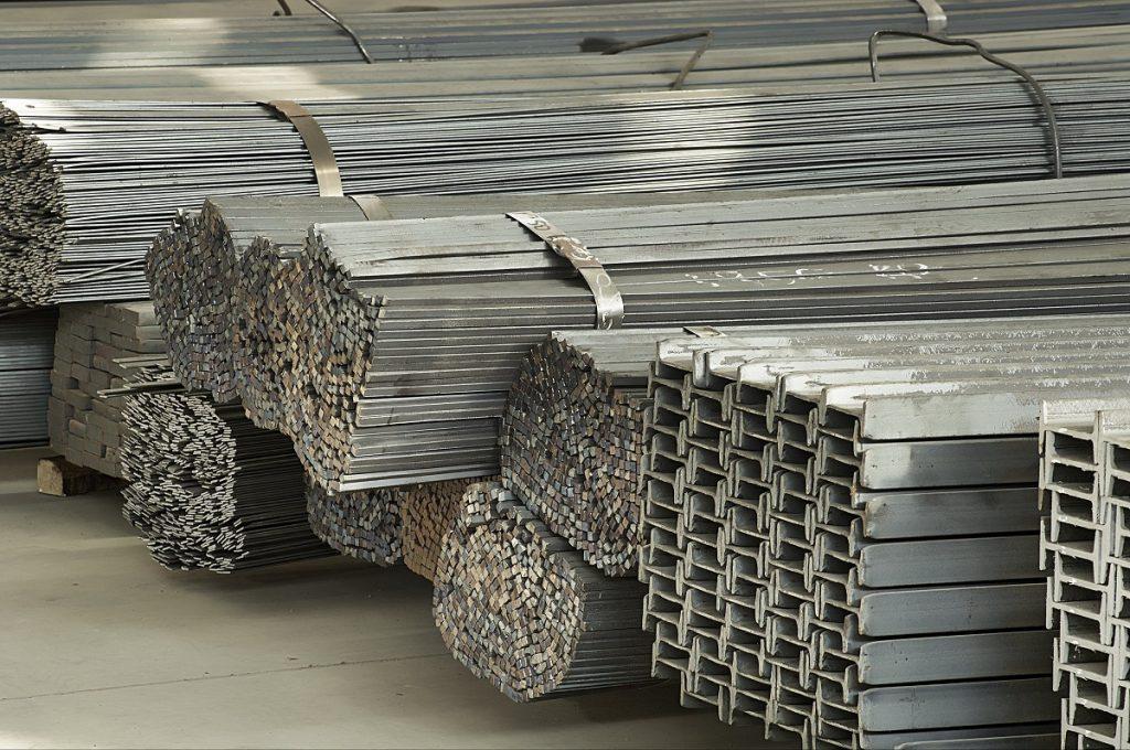 Steel beam in piles