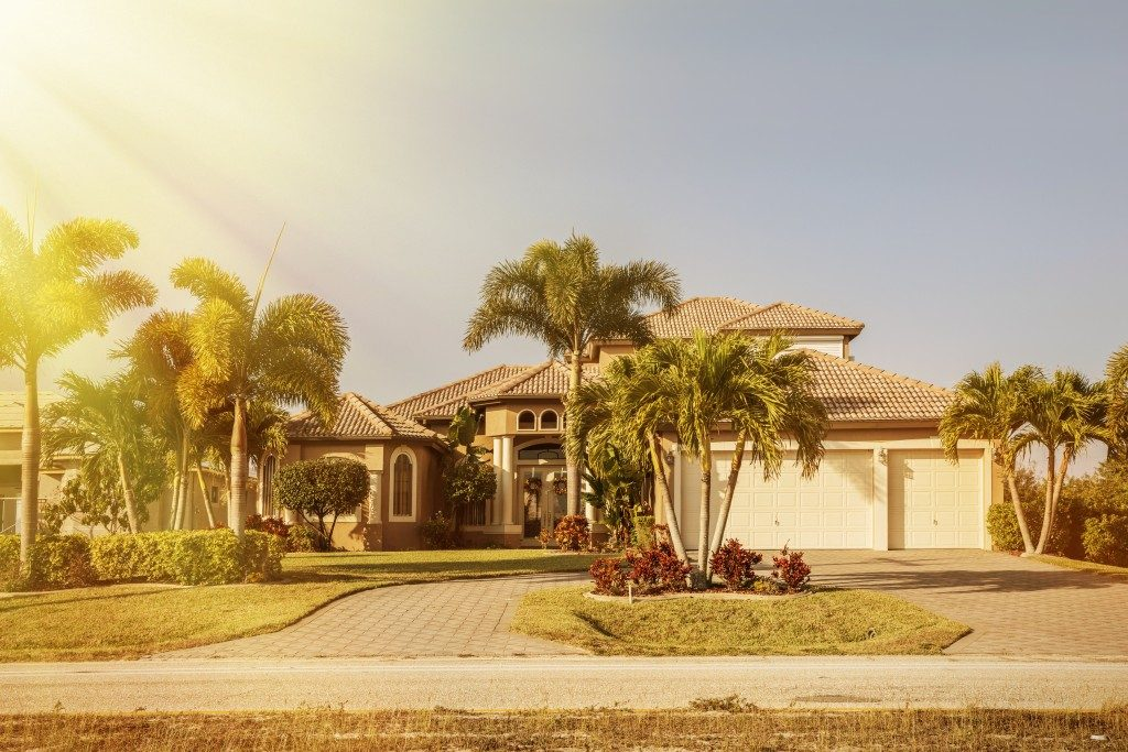 exterior of a landscaped house