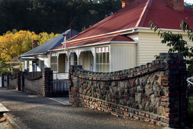 Beautiful old timber weatherboard homes, Hobart, Tasmania, Australia