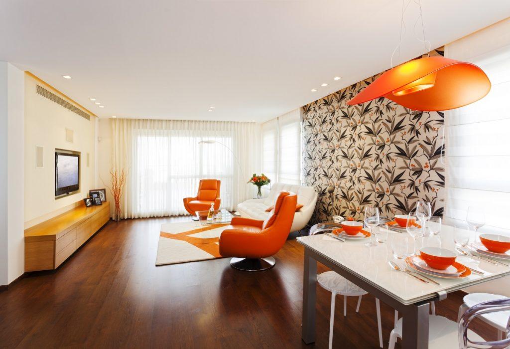 Interior with an orange theme