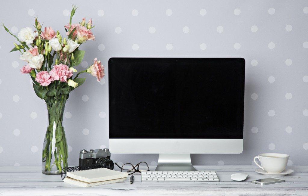 Desktop computer on your home desk