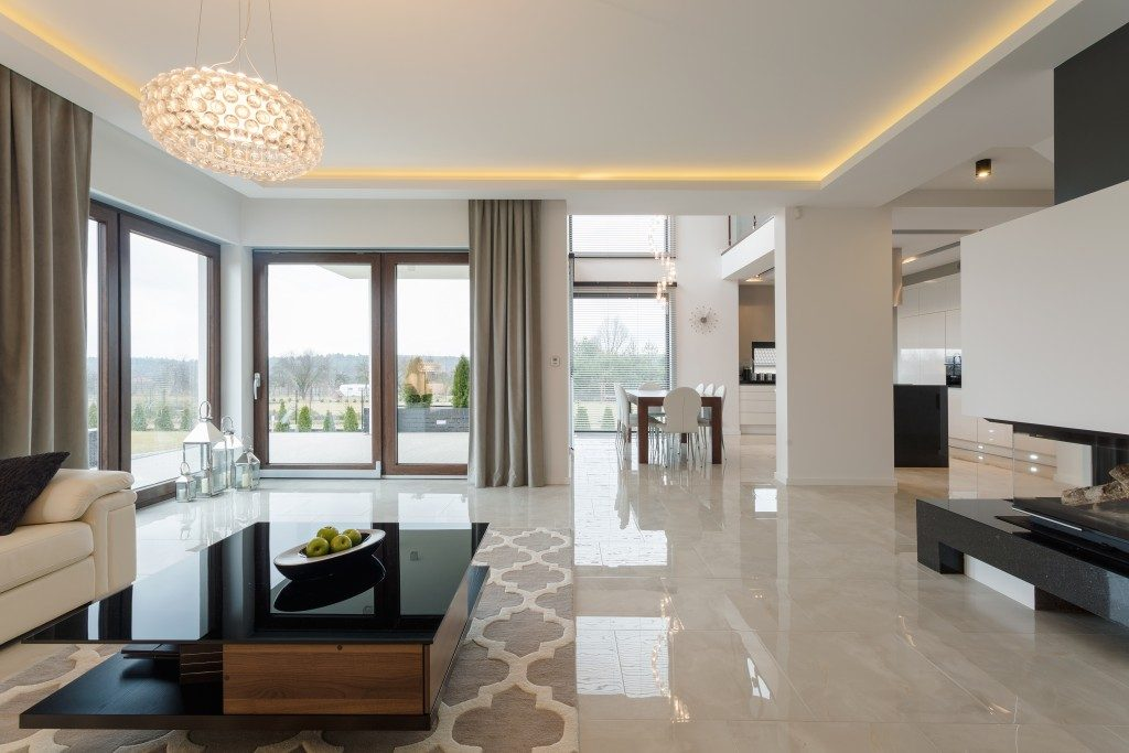 Home with marble floor