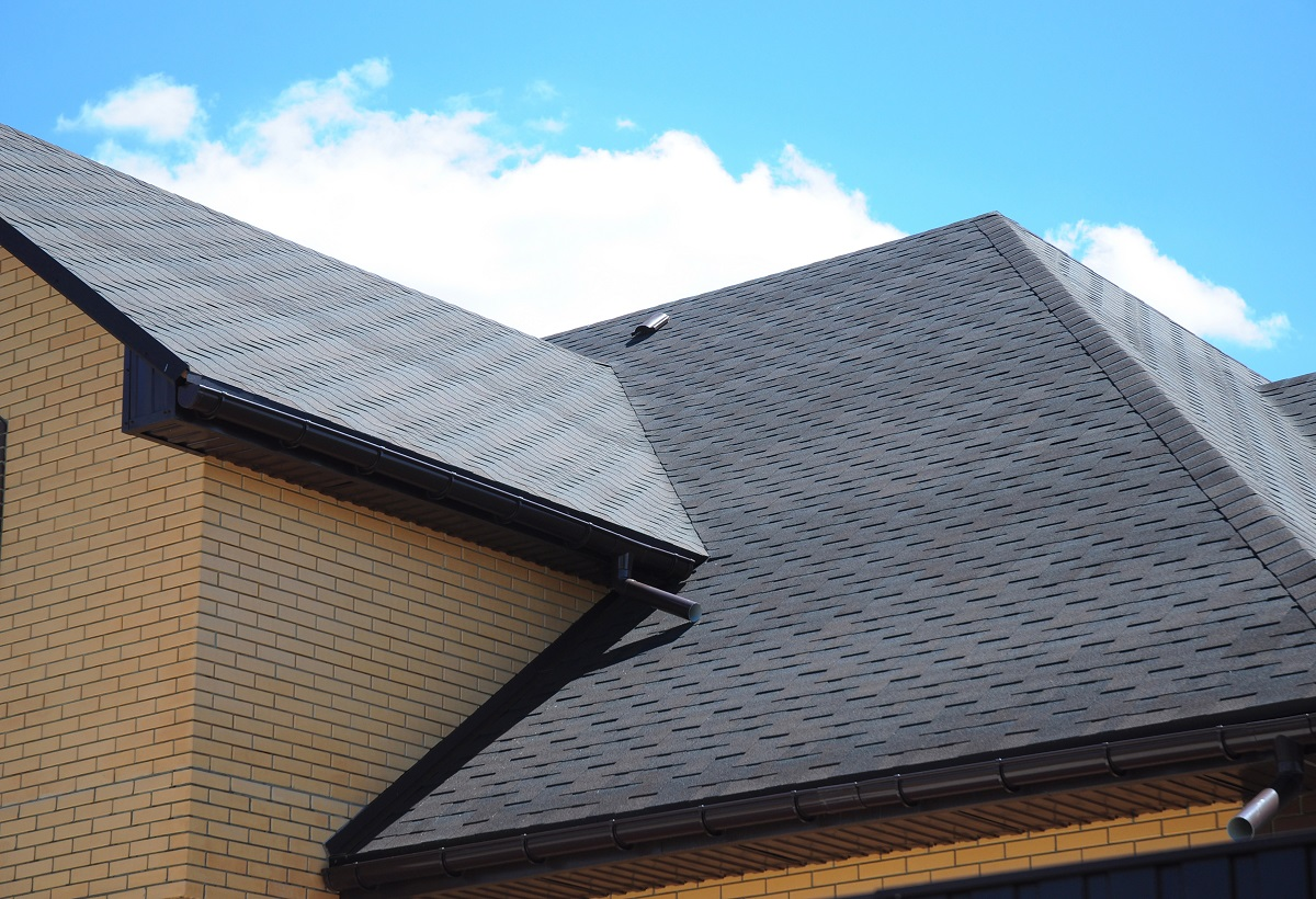 Sheet roof of house